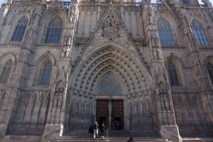 The front of Gaudi's Sagrada Familia